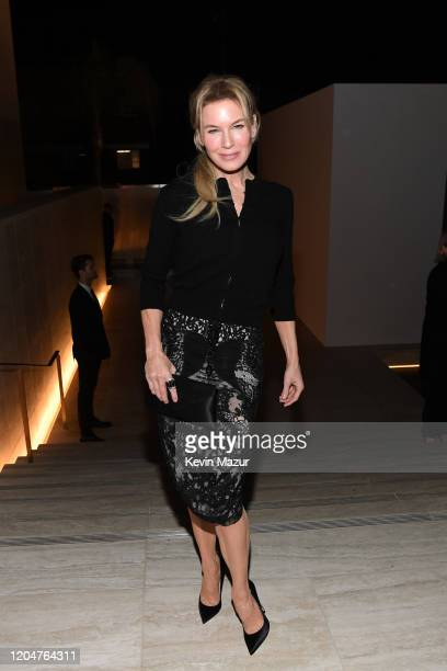 Renée Zellweger attends the Tom Ford AW20 Show at Milk Studios on February 07, 2020 in Hollywood, California.