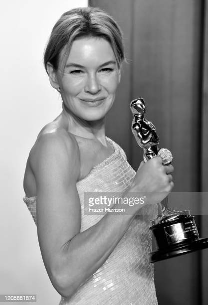 Renée Zellweger attends Vanity Fair Oscar Party Hosted By Radhika Jones at Wallis Annenberg Center for the Performing Arts on February 09 2020 in...