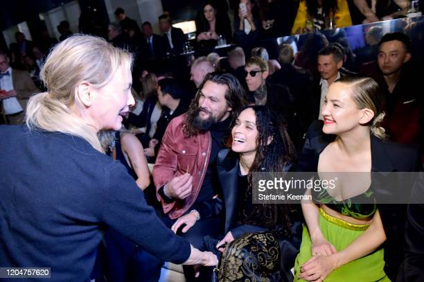 Renée Zellweger Jason Momoa Lisa Bonet and Kate Hudson attend Tom Ford Autumn/Winter 2020 Runway Show at Milk Studios on February 07 2020 in Los...