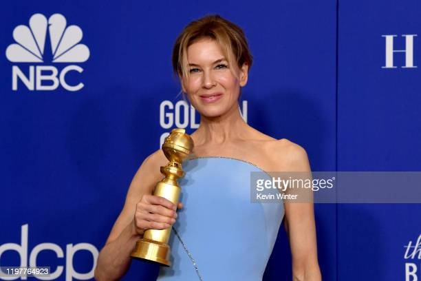 Renée Zellweger winner of Best Performance by an Actress in a Motion Picture — Drama poses in the press room during the 77th Annual Golden Globe...