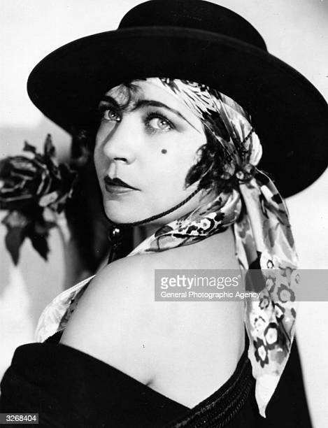 Renee Adoree formerly Jeanne De La Fonte the French leading lady and former circus bareback rider who was contracted to MGM She is seen in costume...