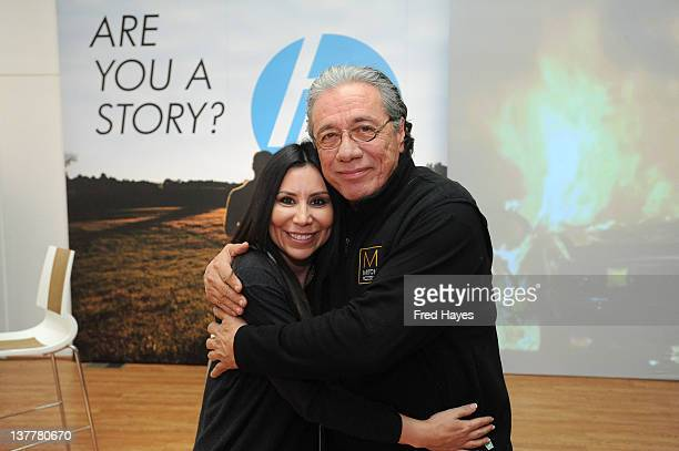 Renee Anaya and Edward James Olmos attend the HP Entertainment Summit Dinner during 2012 Sundance Film Festival on January 26 2012 in Park City Utah