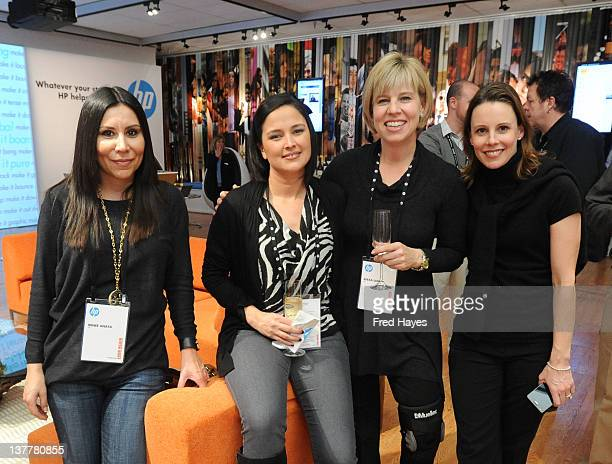 Renee Anaya Janet Mcclaskey and Alexa Lallos attend the HP Entertainment Summit Dinner during 2012 Sundance Film Festival on January 26 2012 in Park...