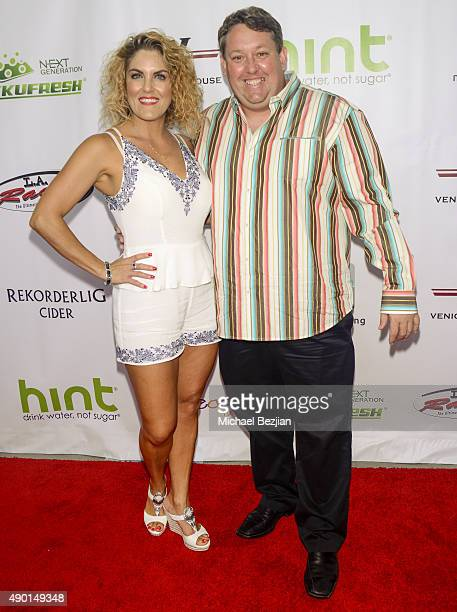 Renee and Casey Nezhoda arrive at The 2nd Annual The Peace Fund Celebrity Poker Tournament on September 26, 2015 in Playa Vista, California.