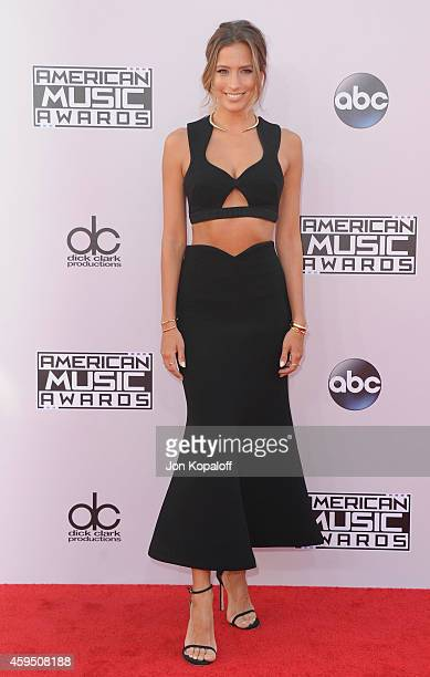 Renee Bargh arrives at the 2014 American Music Awards at Nokia Theatre LA Live on November 23 2014 in Los Angeles California