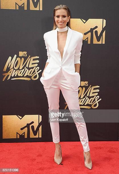 Renee Bargh arrives at the 2016 MTV Movie Awards at Warner Bros Studios on April 9 2016 in Burbank California