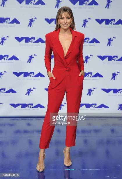Renee Bargh arrives at the 2017 MTV Video Music Awards at The Forum on August 27 2017 in Inglewood California