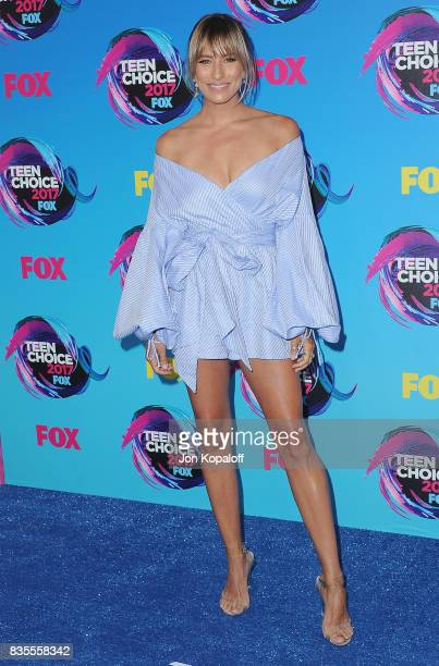 Renee Bargh arrives at the Teen Choice Awards 2017 at Galen Center on August 13 2017 in Los Angeles California