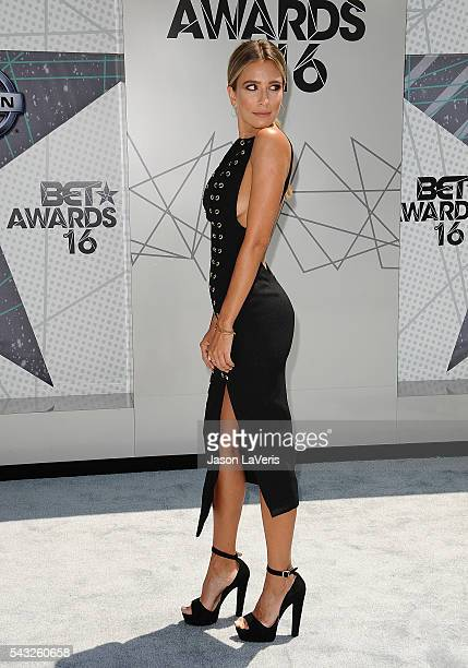 Renee Bargh attends the 2016 BET Awards at Microsoft Theater on June 26 2016 in Los Angeles California