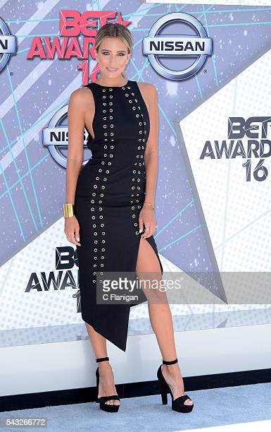 Renee Bargh attends the 2016 BET Awards on June 26 2016 in Los Angeles California