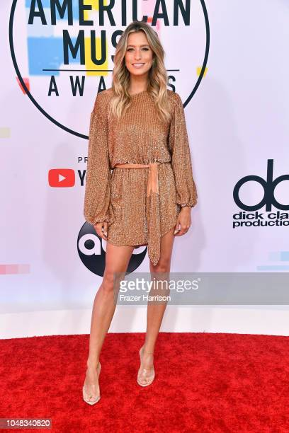 Renee Bargh attends the 2018 American Music Awards at Microsoft Theater on October 9 2018 in Los Angeles California
