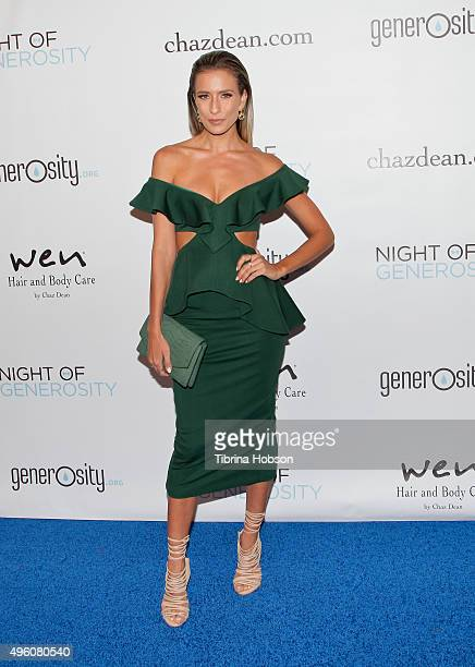 Renee Bargh attends the 7th Annual 'Night of Generosity' Gala benefiting generosityorg at the Beverly Wilshire Four Seasons Hotel on November 6 2015...