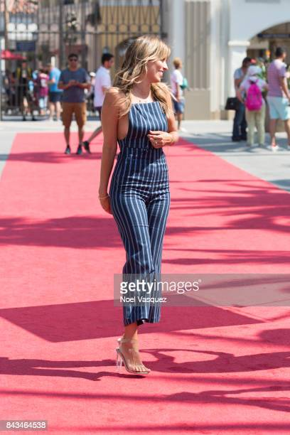 Renee Bargh visits 'Extra' at Universal Studios Hollywood on September 6 2017 in Universal City California