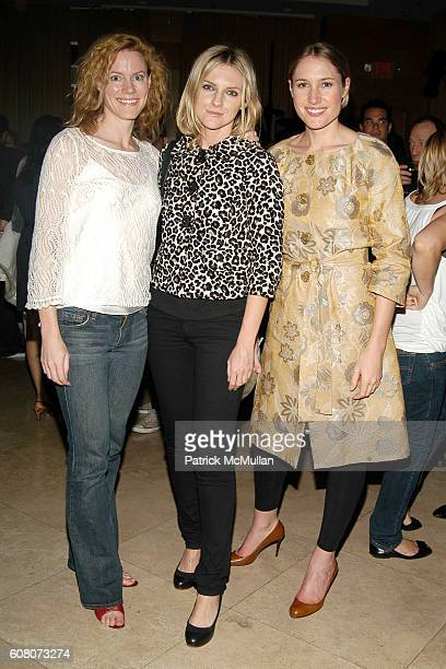 Renee Beaumont Laura Brown and Alison Brokaw attend IMPERIA VODKA Presents the VISIONAIRE 'Artist Toys Launch Party' at The Raleigh Hotel on December...