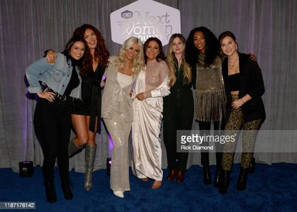 Renee Blair, Kylie Morgan, Ivy Dene, Sophie Dawn, Sykamore, Tiera and Madison Kozak attend the 2019 CMT Next Women Of Country Celebration at CMA...