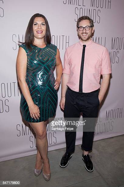 Renee Blinkwolt and Jason Eagan attend 'Small Mouth Sounds' Opening Night at The Pershing Square Signature Center on July 13 2016 in New York City