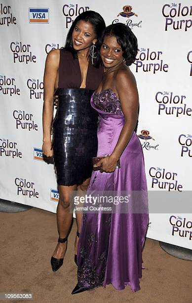Renee Elise Goldsberry and LaChanze during The Color Purple Broadway Opening Night After Party at The New York Public Library in New York City New...