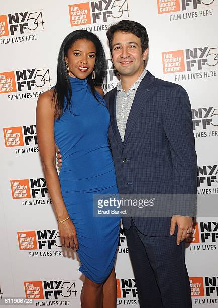 Renee Elise Goldsberry and LinManuel Miranda attend the 54th New York Film Festival 'Manchester by the Sea' World Premiere at Alice Tully Hall at...