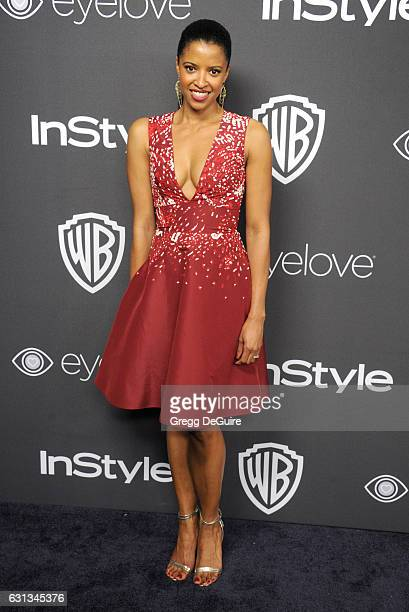Renee Elise Goldsberry arrives at the 18th Annual PostGolden Globes Party hosted by Warner Bros Pictures and InStyle at The Beverly Hilton Hotel on...