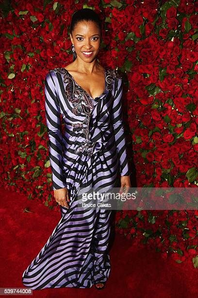 Renee Elise Goldsberry attends 70th Annual Tony Awards Arrivals at Beacon Theatre on June 12 2016 in New York City