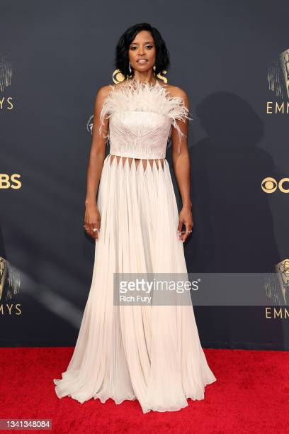 Renee Elise Goldsberry attends the 73rd Primetime Emmy Awards at L.A. LIVE on September 19, 2021 in Los Angeles, California.
