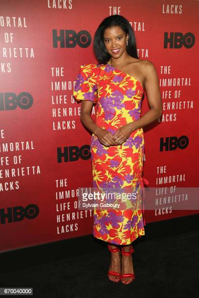 Renee Elise Goldsberry attends The Immortal Life Of Henrietta Lacks New York Premiere on April 18 2017 in New York City