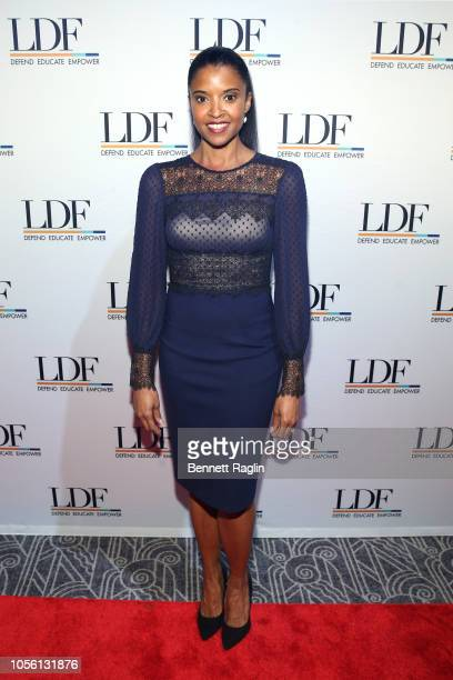 Renee Elise Goldsberry attends the NAACP LDF 32nd National Equal Justice Awards Dinner at The Ziegfeld Ballroom on November 1 2018 in New York City