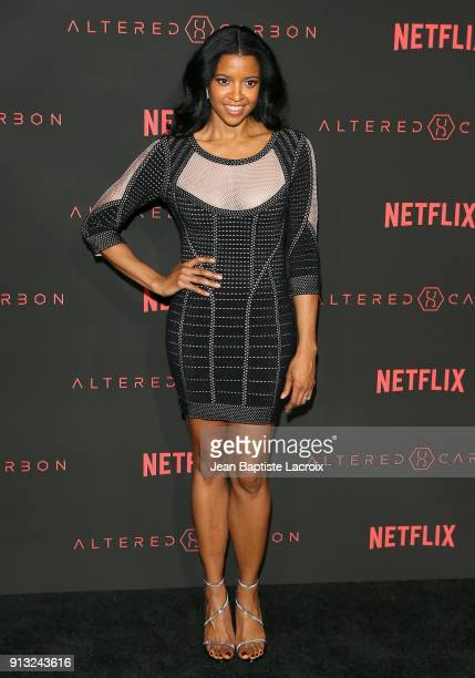 Renee Elise Goldsberry attends the World Premiere of the Netflix Original Series 'Altered Carbon' on February 1 2018 in Los Angeles California
