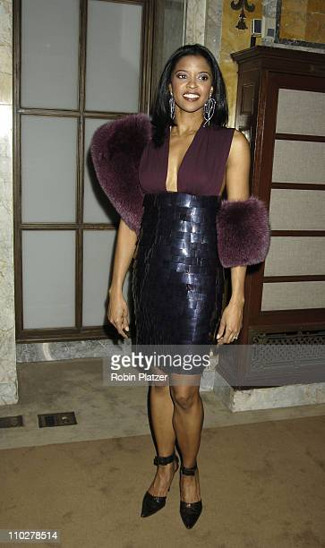 Renee Elise Goldsberry during The Color Purple Broadway Opening Night After Party at The New York Public Library in New York City New York United...