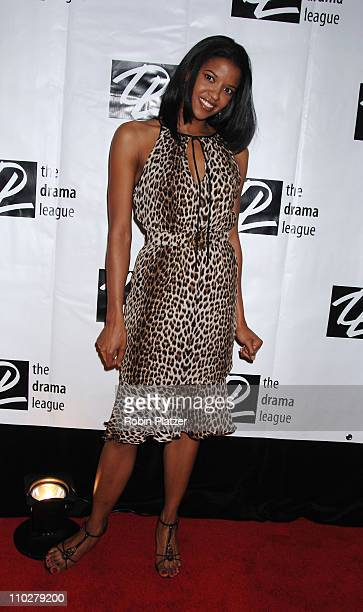 Renee Elise Goldsberry of One Life to Live during 72nd Annual Drama League Awards Ceremony and Luncheon Arrivals at The Marriott Marquis Hotel in New...