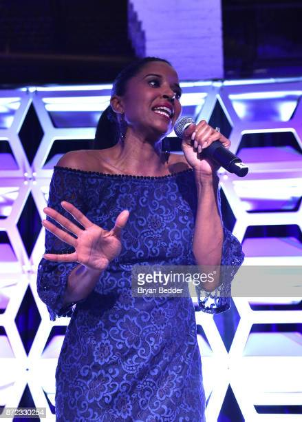 Renee Elise Goldsberry performs at OUT Magazine #OUT100 Event presented by Lexus at the the Altman Building on November 9 2017 in New York City