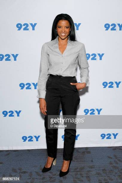 Renee Elise Goldsberry visits the 92nd Street Y to discuss 'The Immortal Life of Henrietta Lacks' on April 13 2017 in New York City