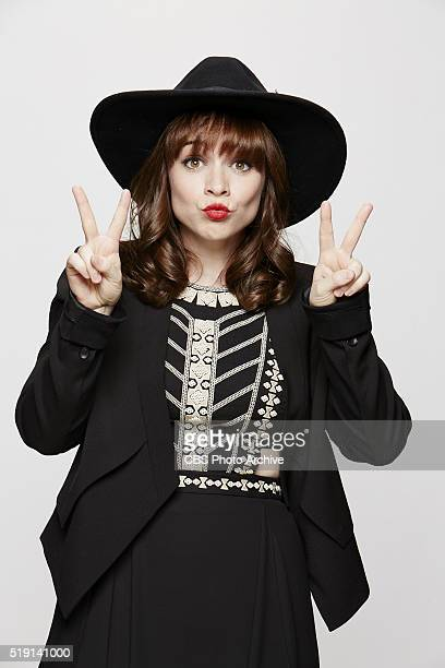 Renee Felice Smith stops by the CBS Photo Booth during the 51st ACADEMY OF COUNTRY MUSIC AWARDS cohosted by Luke Bryan and Dierks Bentley from the...
