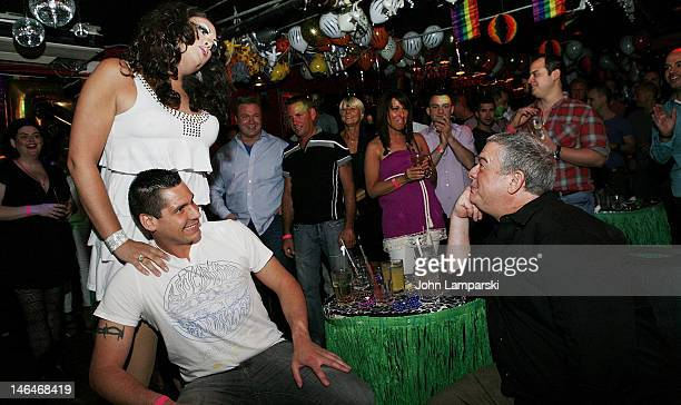 Renee Fleming Alex Carr and Elvis Duran attend Alex Carr's birthday celebration at The Stonewall Inn on June 16 2012 in New York City