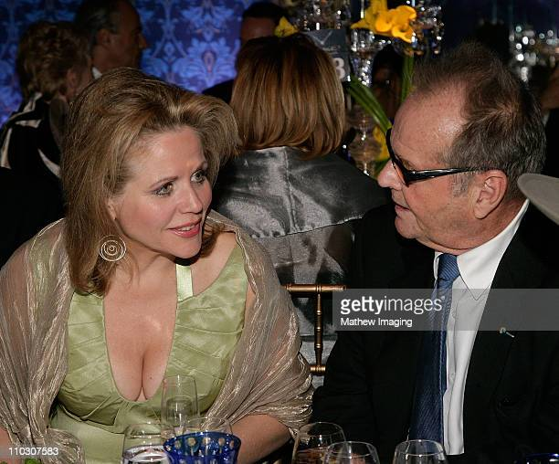 Renee Fleming and Actor Jack Nicholson attend the Los Angeles Philharmonic Gala at the Walt Disney Concert Hall on October 4 2007 in Los Angeles...