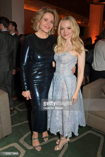 """Renee Fleming and Dove Cameron attend the press night after party for """"The Light In The Piazza"""" at Skylon on June 18, 2019 in London, England."""
