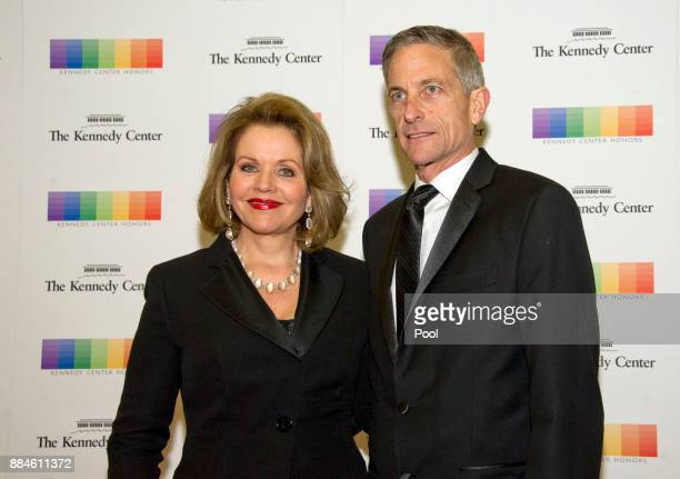 Renee Fleming and her husband Tim Jessell arrive for the formal Artist's Dinner honoring the recipients of the 40th Annual Kennedy Center Honors...