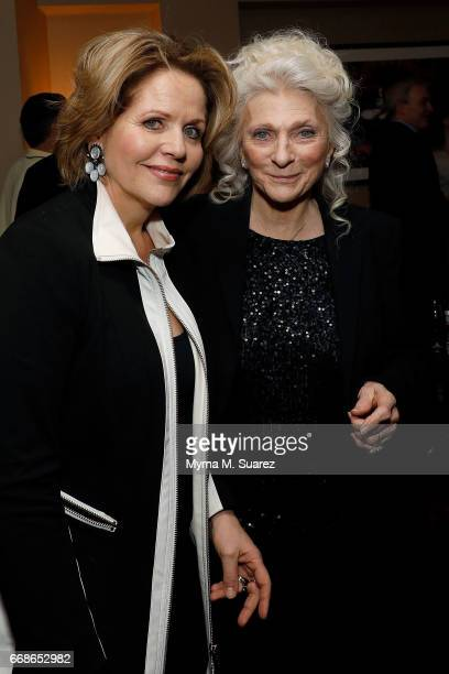 Renee Fleming and Judy Collins attend Billy Joel's 40th consecutive soldout show at Madison Square Garden on April 14 2017 in New York City
