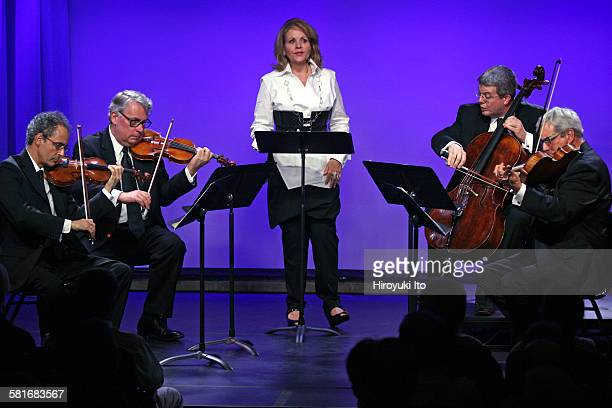 Renee Fleming and the Emerson String Quartet celebrate the release of their new album at SubCulture on Wednesday night September 16 2015This...