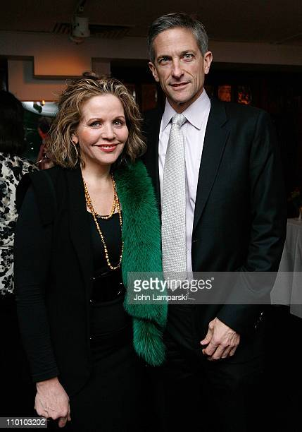 Renee Fleming and Tim Jessell attend the 27th annual Evening of Readings PreGala kickoff at Michael's Restaurant on March 14 2011 in New York City