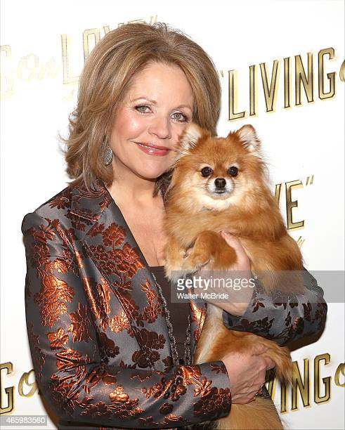 Renee Fleming and Trixie attend the 'Living on Love' photo call at the Empire Hotel on March 12 2015 in New York City