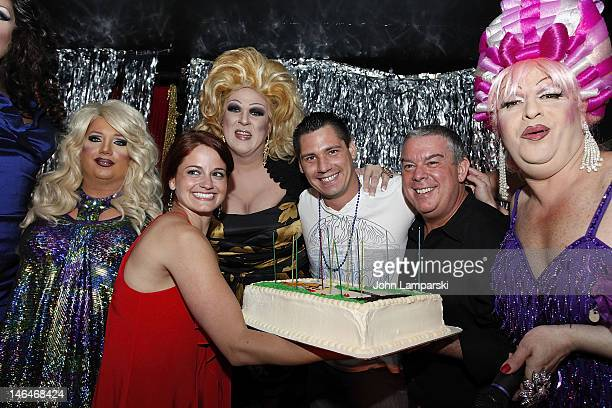 Renee Fleming Ariel Sinclair Gusty Wind Elizabeth Fazio Alex Carr Elvis Duran and Tiffany Wells attends Alex Carr's birthday celebration at The...
