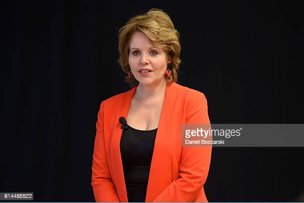 Renee Fleming attends Chicago Voices Sing Kick Off at Chicago High School for the Arts on October 13 2016 in Chicago Illinois