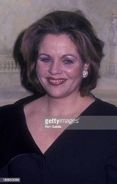 Renee Fleming attends Drama League Dinner Honoring Liza Minnelli on January 31, 2000 at the Pierre Hotel in New York City.