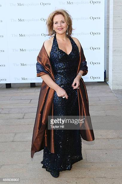 Renee Fleming attends the season opening of The Marriage of Figaro at The Metropolitan Opera House on September 22 2014 in New York City