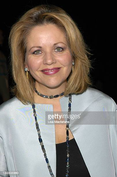 Renee Fleming during Olympus Fashion Week Spring 2006 Bill Blass Front Row at Bryant Park in New York City New York United States