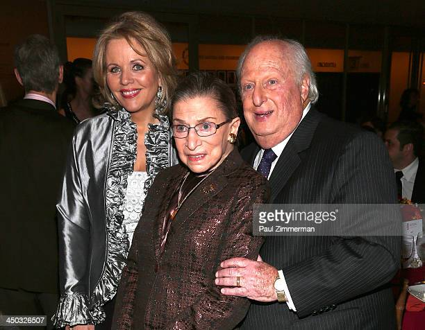 Renee Fleming Honorable Ruth Bader Ginsburg Associate Justice of Supreme Court of the United States and Barry Tucker President of the Richard Tucker...