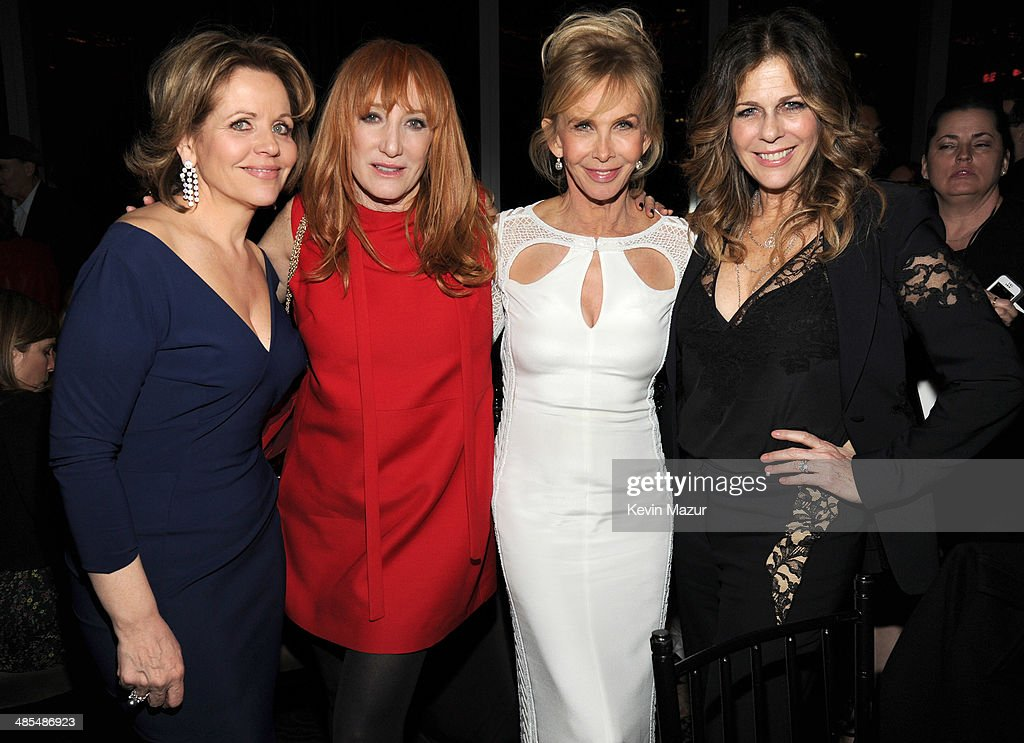 Renee Fleming, Patti Scialfa, Trudie Styler and Rita Wilson attend the 25th Anniversary Rainforest Fund Benefit at Mandarin Oriental Hotel on April 17, 2014 in New York City.