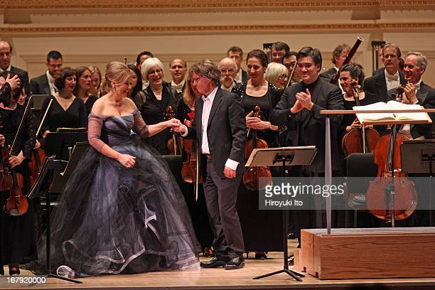 Renee Fleming performing Anders Hillborg's 'The Strand Settings' with the New York Philharmonic led by Alan Gilbert at Carnegie Hall on Friday night...
