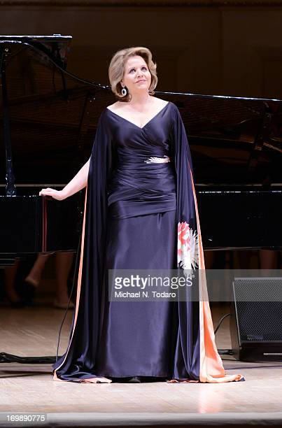 Renee Fleming performs at Carnegie Hall on June 3 2013 in New York City